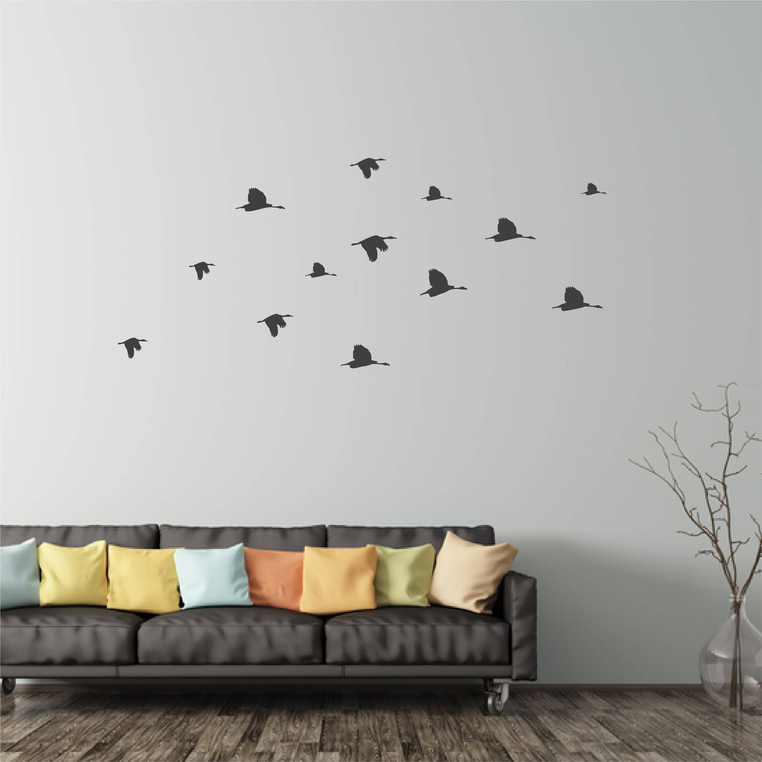 Flock Of Flying Birds Wall Sticker Peel And Stick Wall Decals Bird ...