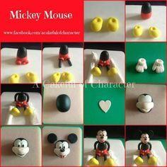 DIY-Mickey Mouse Fondant Gum Paste: Cake Decorating Tutorial...so cute!