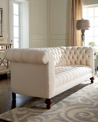 Chesterfield Sofas Are Deep Tufted With Arms And Back Of The Same Height