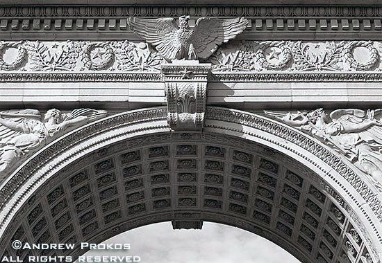 architectural detail photography. Washington Square Arch Architectural Detail - Http://andrewprokos.com/photos/black-and-white/ Photography O