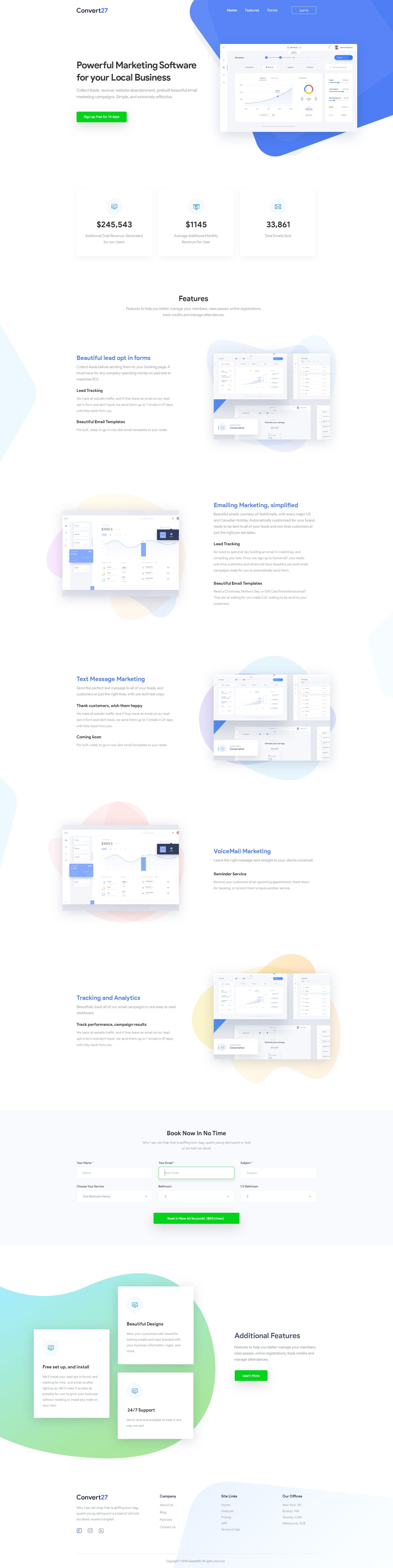Marketing Software Saas Landing Page Design Landing Page Design Page Design Web Template Design