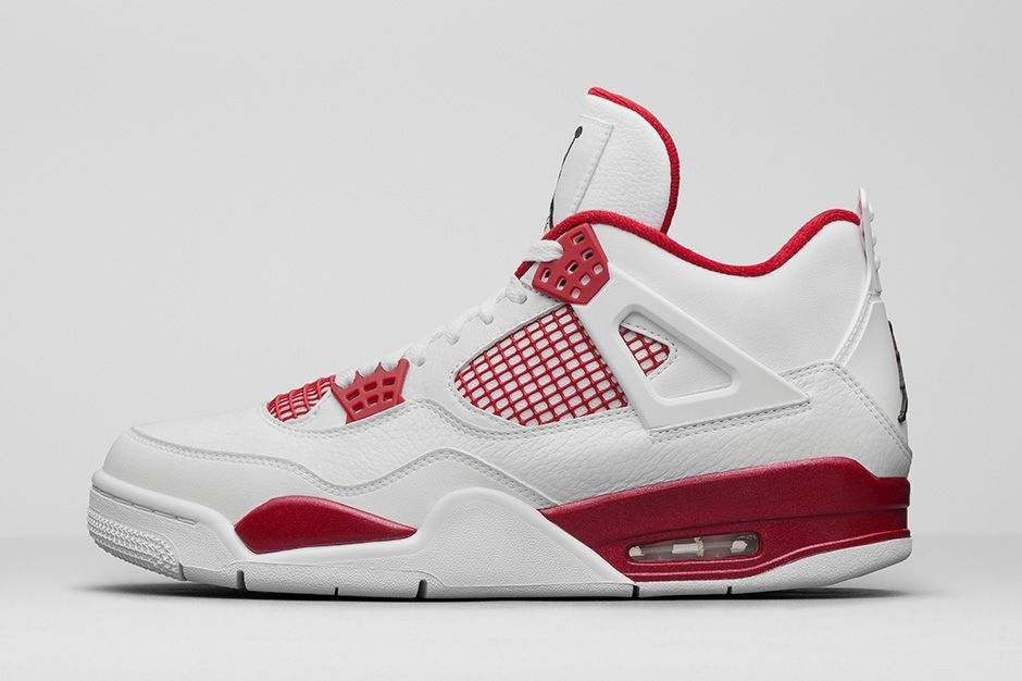 nike air jordan 4s red white