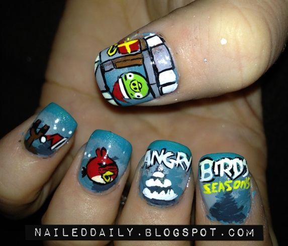 Angry Birds, Nails, Nail Art