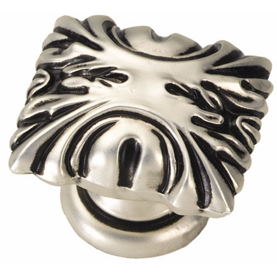 Hickory Hardware Ithica Satin Antique Silver Rectangular Cabinet Knob