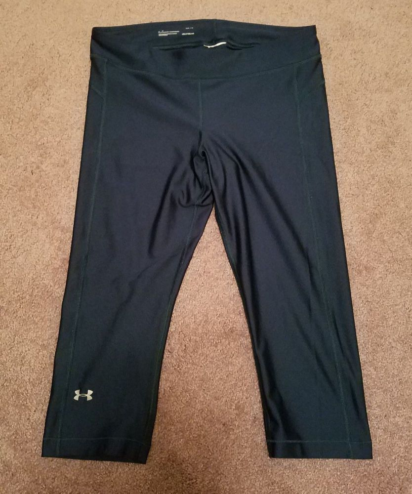 09cf484d0d0c56 UNDER ARMOUR HEAT GEAR Women's Poly Spandex COMPRESSION Capri Leggings  Green LG #fashion #clothing #shoes #accessories #womensclothing #activewear  (ebay ...