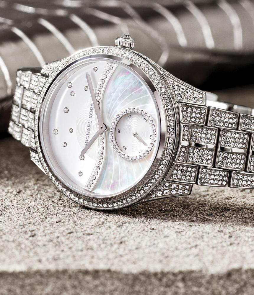 83a2b1f55ece MICHAEL KORS Lauryn Celestial Pavé Silver-Tone Watch