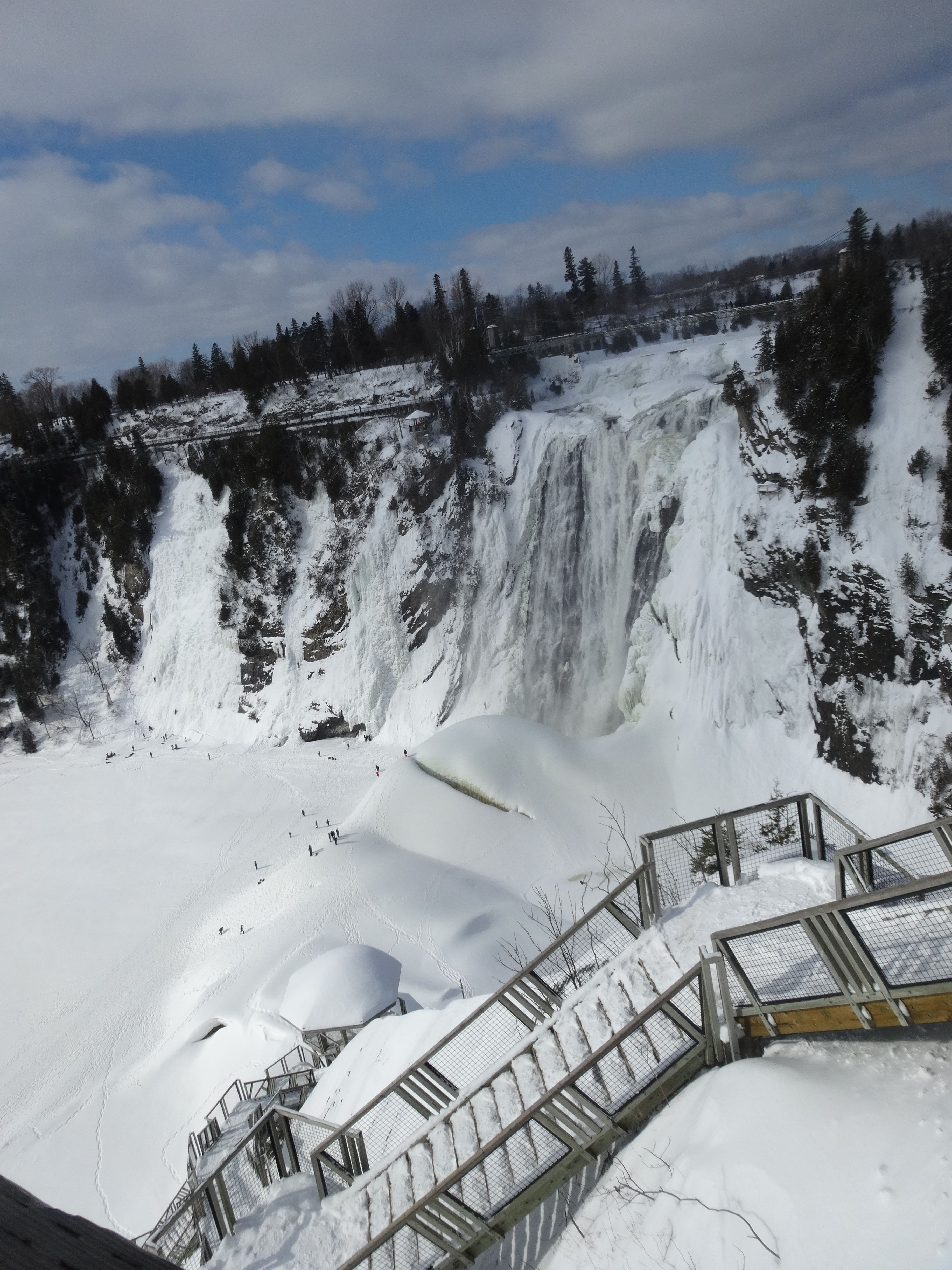 Attractive Montmorency Falls In Winter.