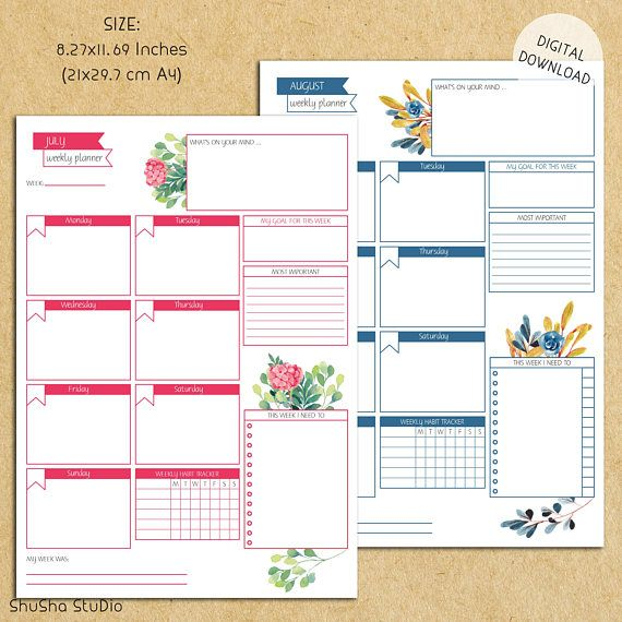 weekly planner printable with times weekly calendar with times slots printable