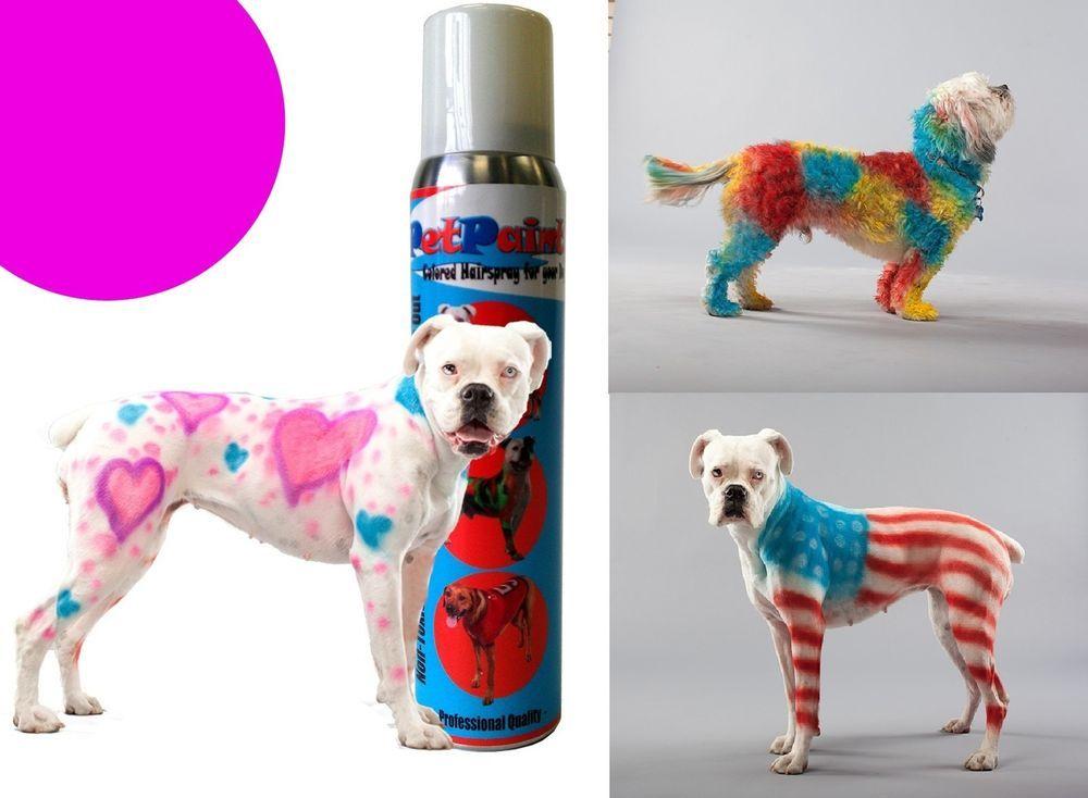 Paint Dog Animal Safe Temporary Hairspray Hair Color Spray Can ...