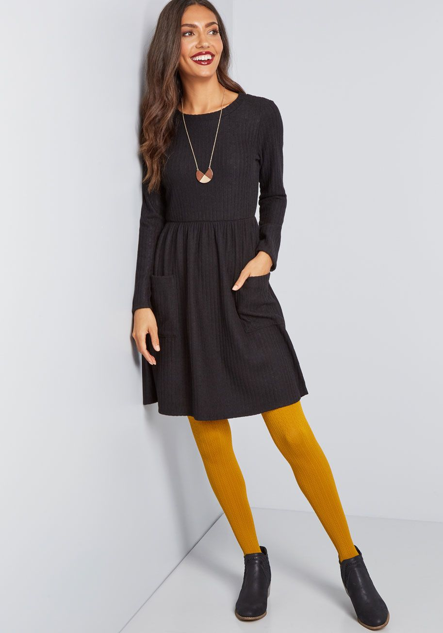 64d5b993a6c Pleased to Be Me Sweater Dress Black