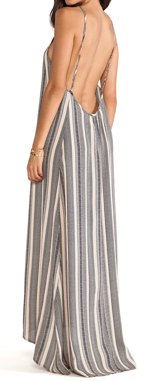 Stripes maxi, I realize that todays fashion is meant to make women look like tramps, leaving  nothing to the imagination.  Really ladies....