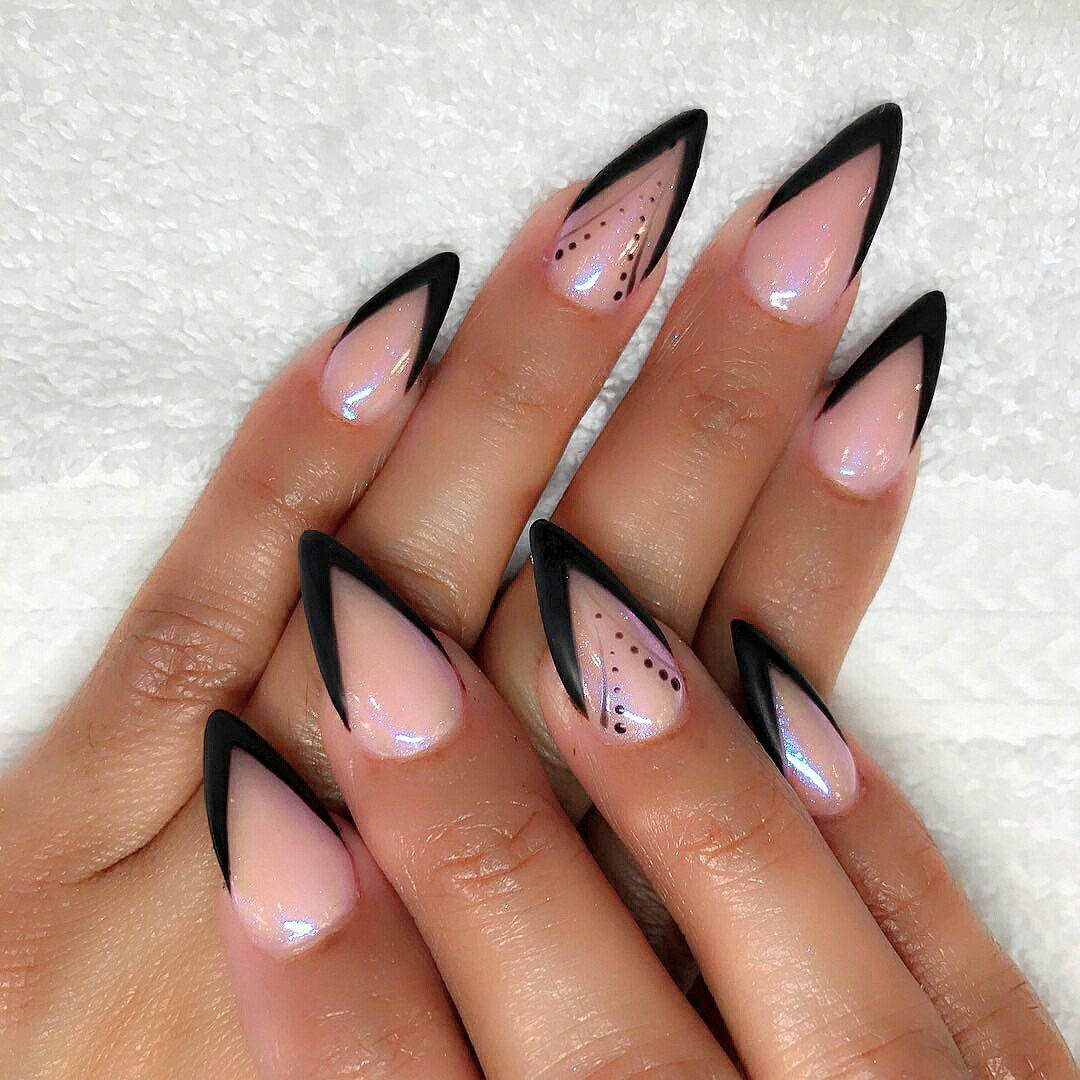 mountain peak nail designs - Nail Shapes 2018: New Trends And Designs Of Different Nail Shapes