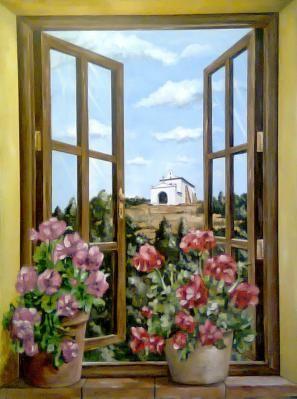 Ventanas cuadros buscar con google proyectos que intentar pinterest ventanas pinturas y - Quadri con finestre ...