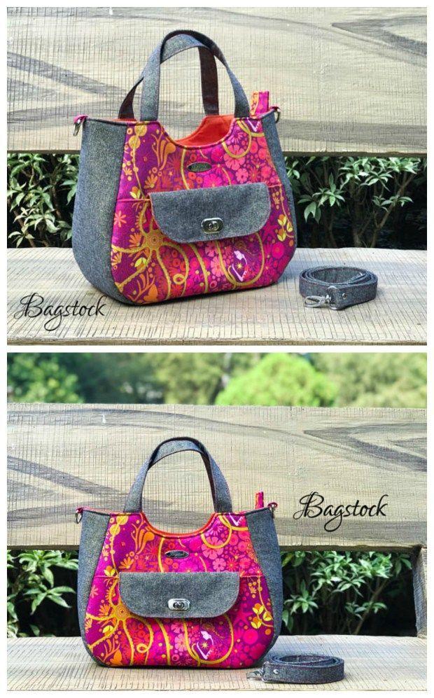 El patrón de costura pdf de Ruby Handbag te convierte en un fantástico bolso de uso múltiple … – patrón de costura