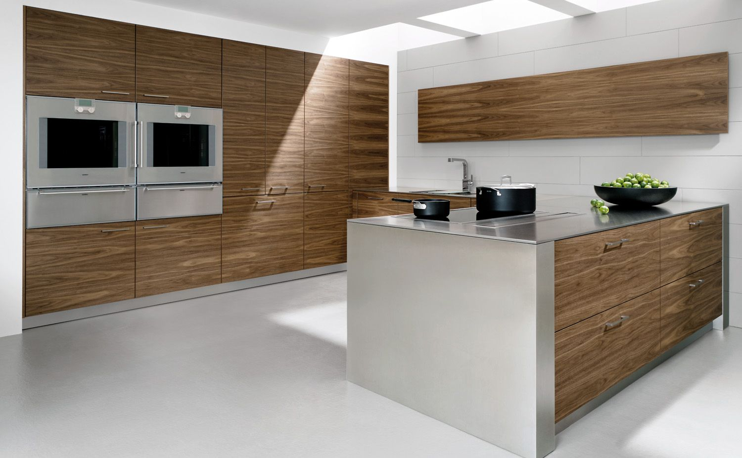 Walnut veneer kitchen design art by allmilmo pinterest for Veneer for kitchen cabinets