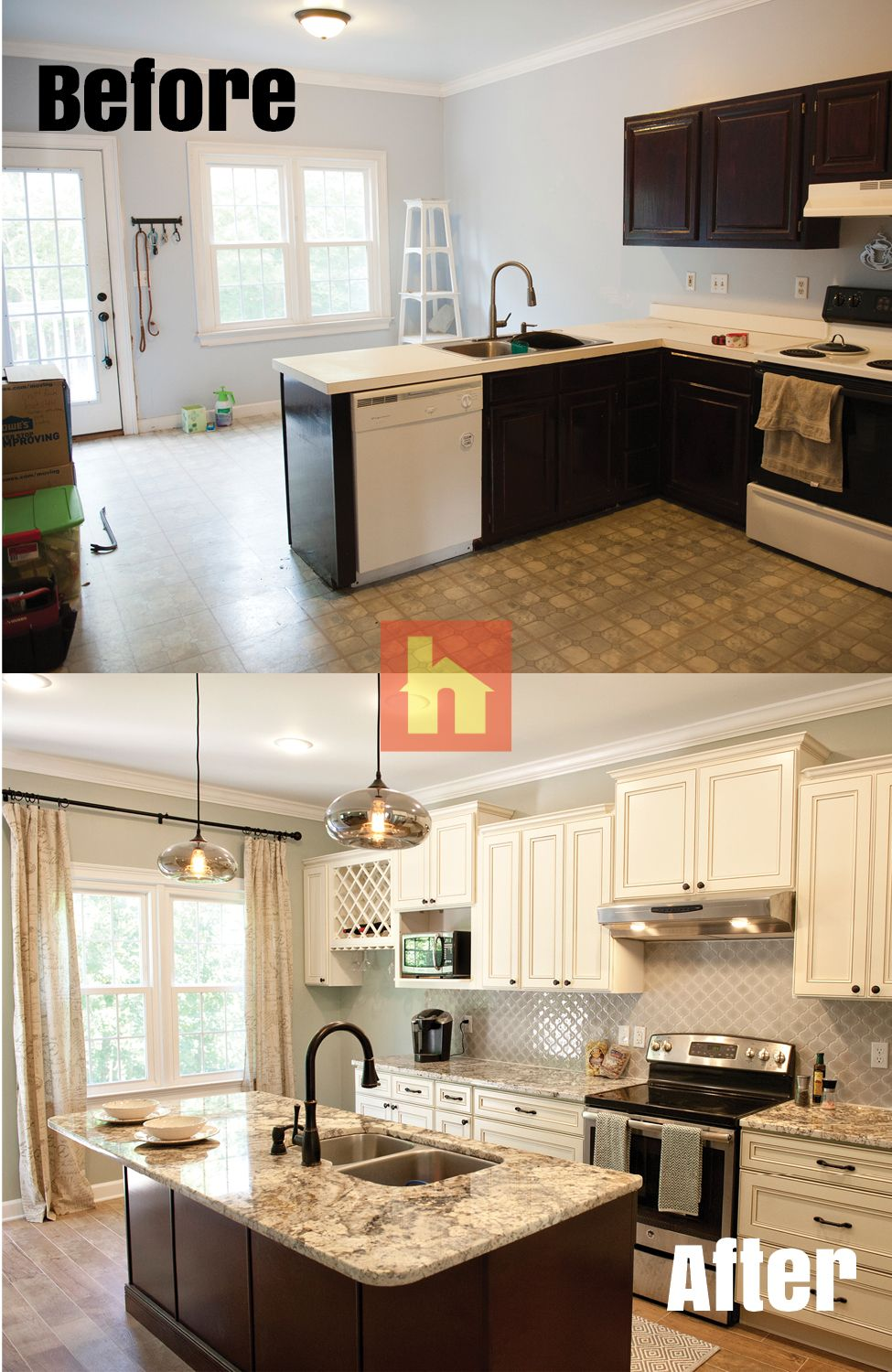 Kitchen remodel by Tanya W. -Columbia, SC. Over the summer ...