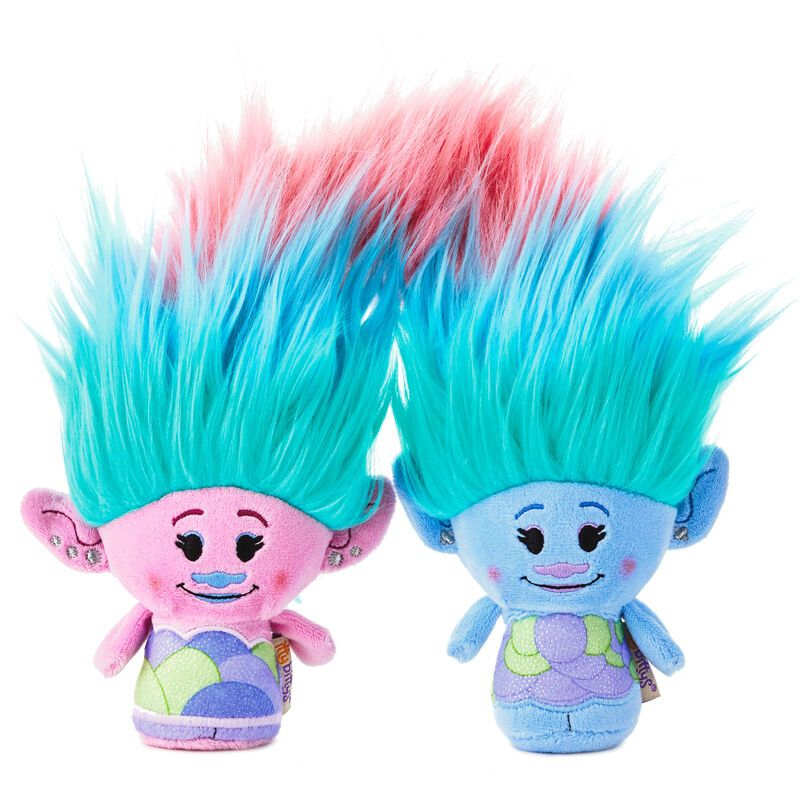Fierce 4 x Trolls Hair Bobbles With Charms NEW TROLLS WORLD TOUR Rainbow