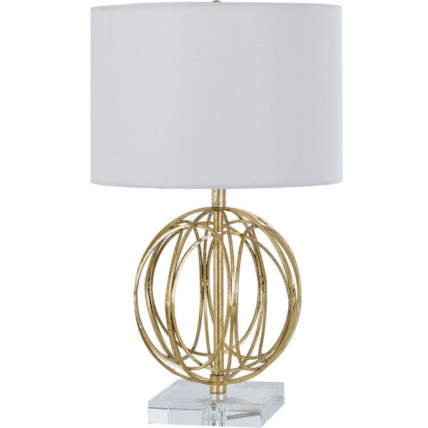 Mills Modern Classic Gold Acrylic Sphere Table Lamp 196