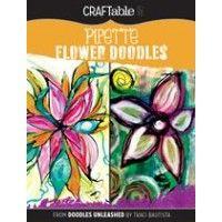Pipette Flower Doodles CraftAble Download | NorthLightShop.com