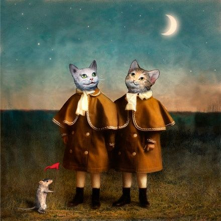 Distracted cats, 2003, by Maggie Taylor