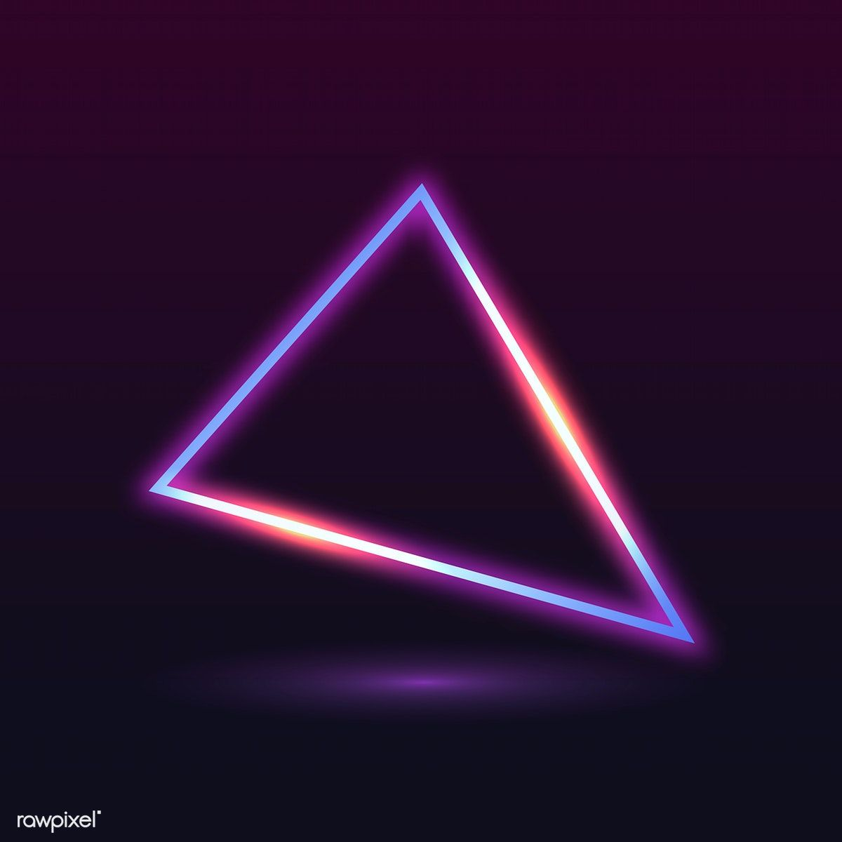 Retro Neon Triangle Badge Vector Free Image By Rawpixel Com Ningzk V Neon Vector Free Android Wallpaper Black