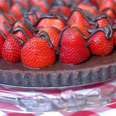 Strawberry Chocolate Truffle Tarte