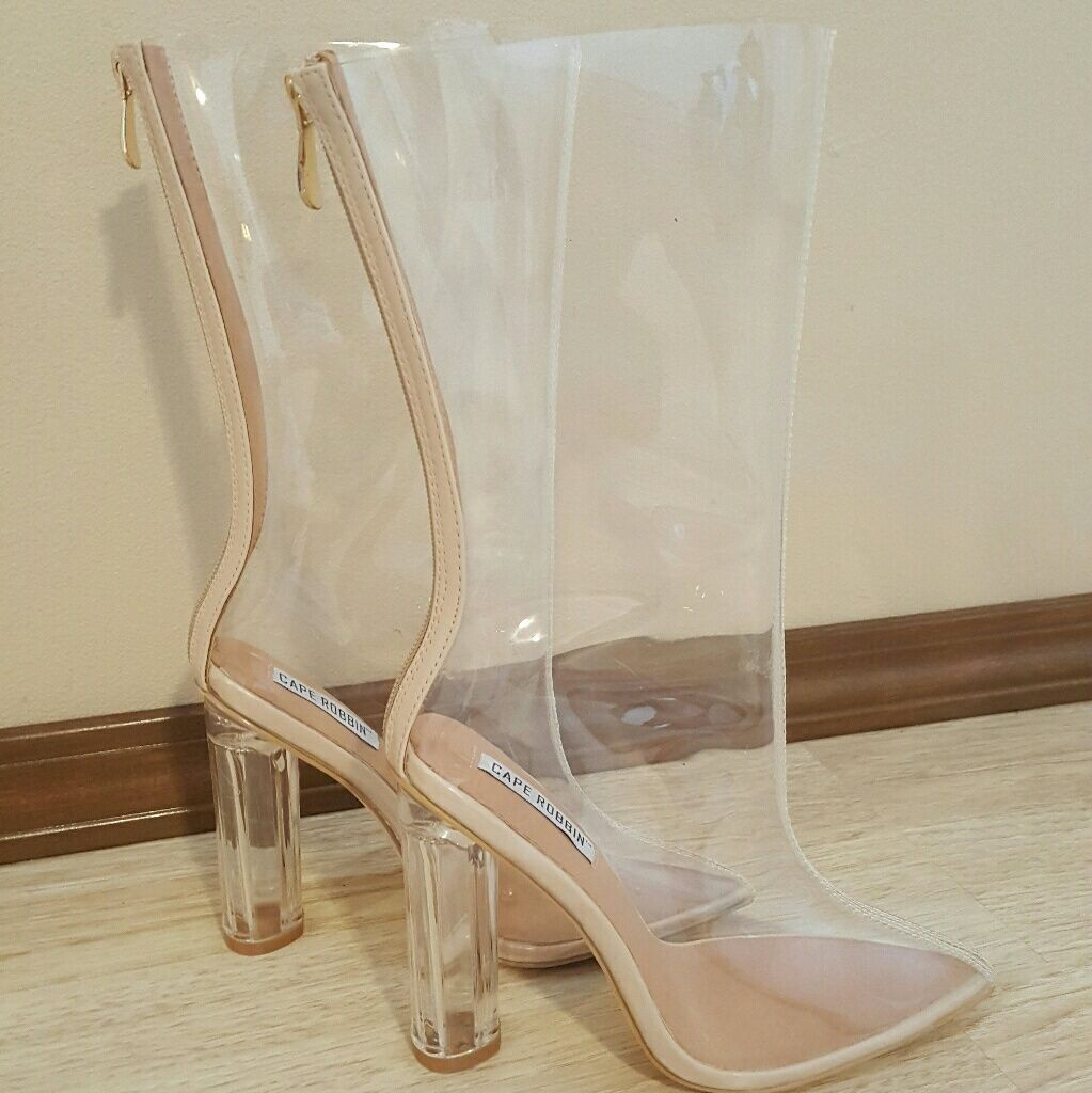 0343284e372 Fashion Nova Shoes   Nwot Fashion Nova Transparent Heels   Color ...
