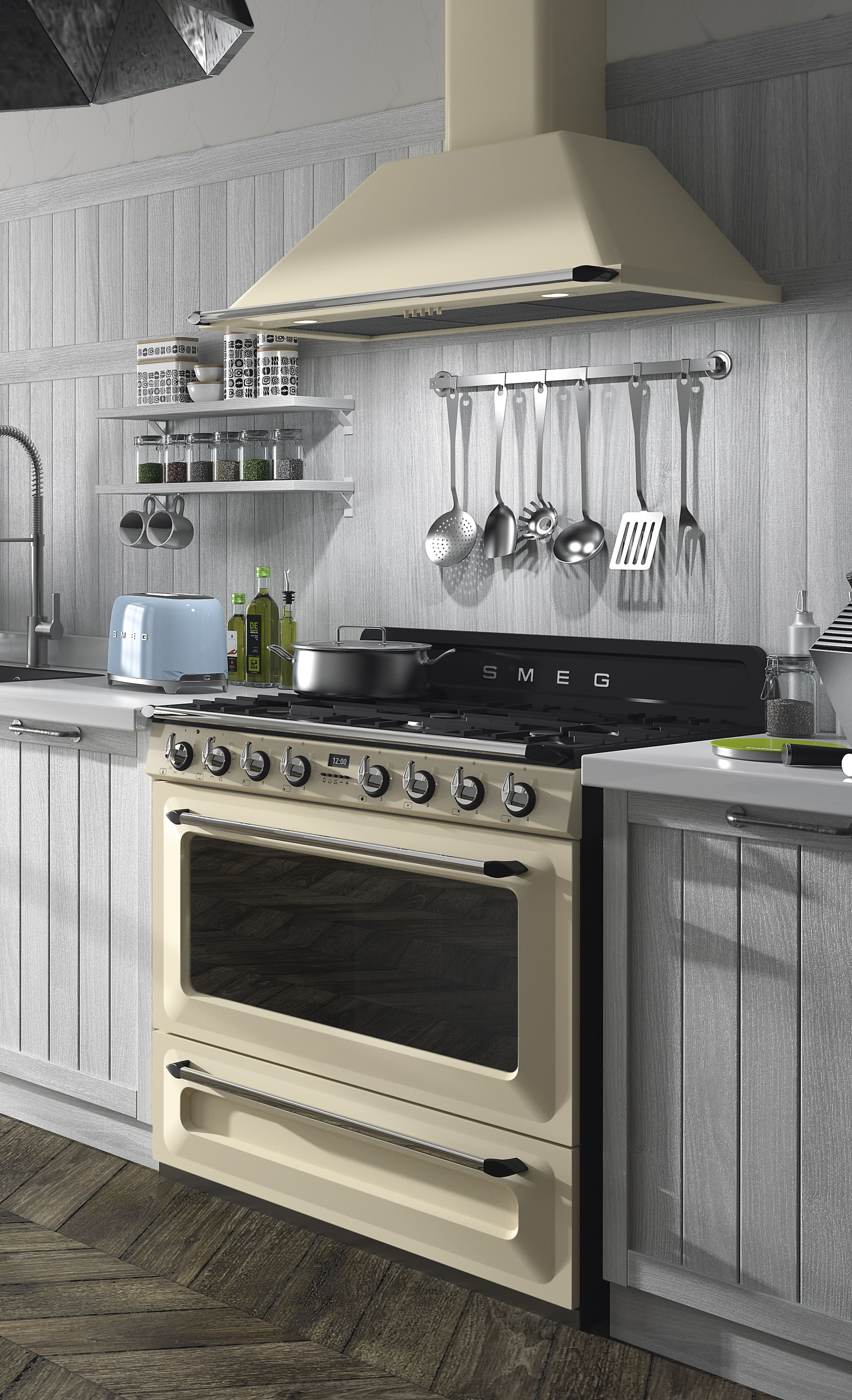 Kitchen Cabinets Victoria Smeg Cream Victoria Cooker And Hood Kitchens In 2019