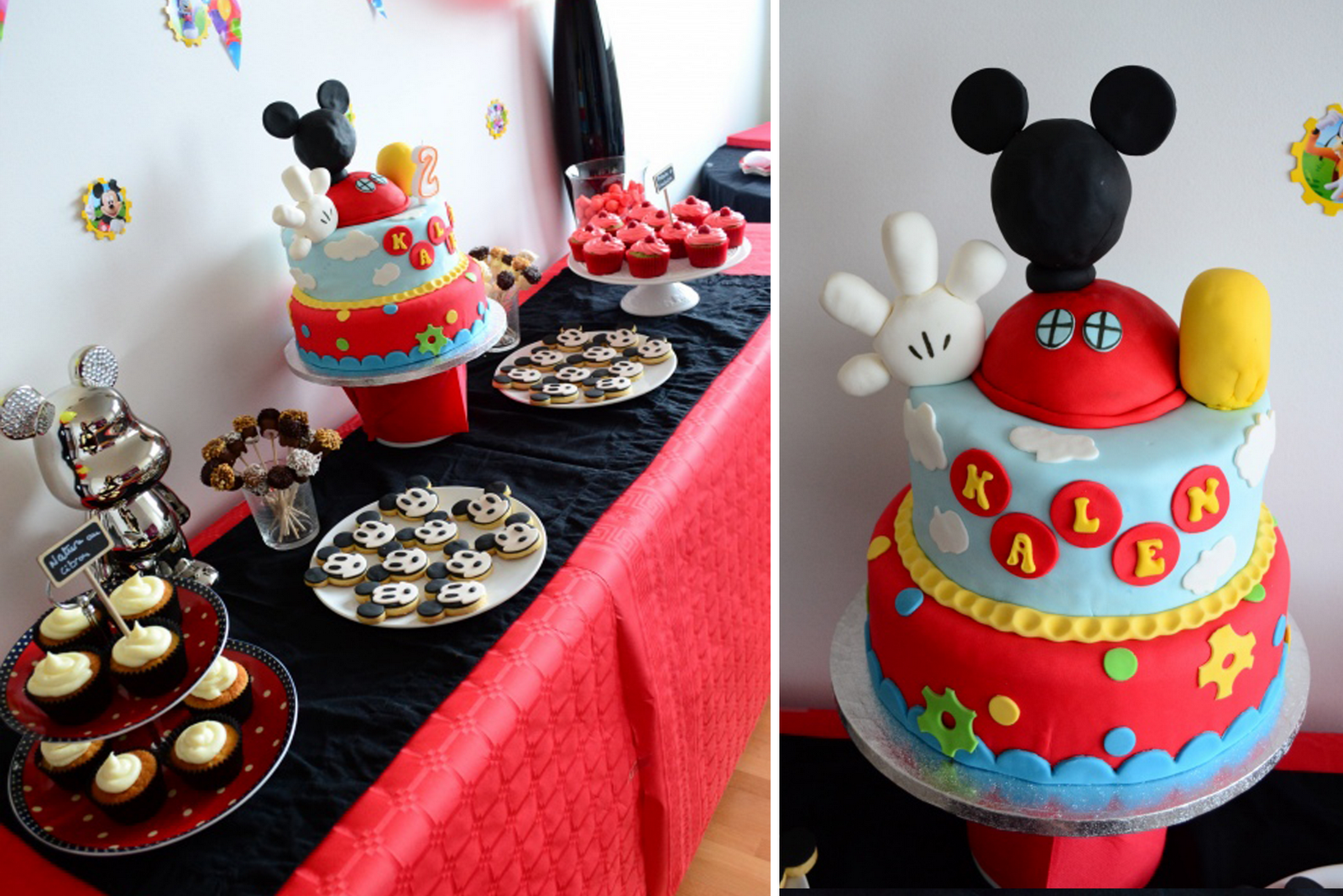 Table Desserts Mickey Gateau Pinterest Desserts Mickey Dessert Et Table