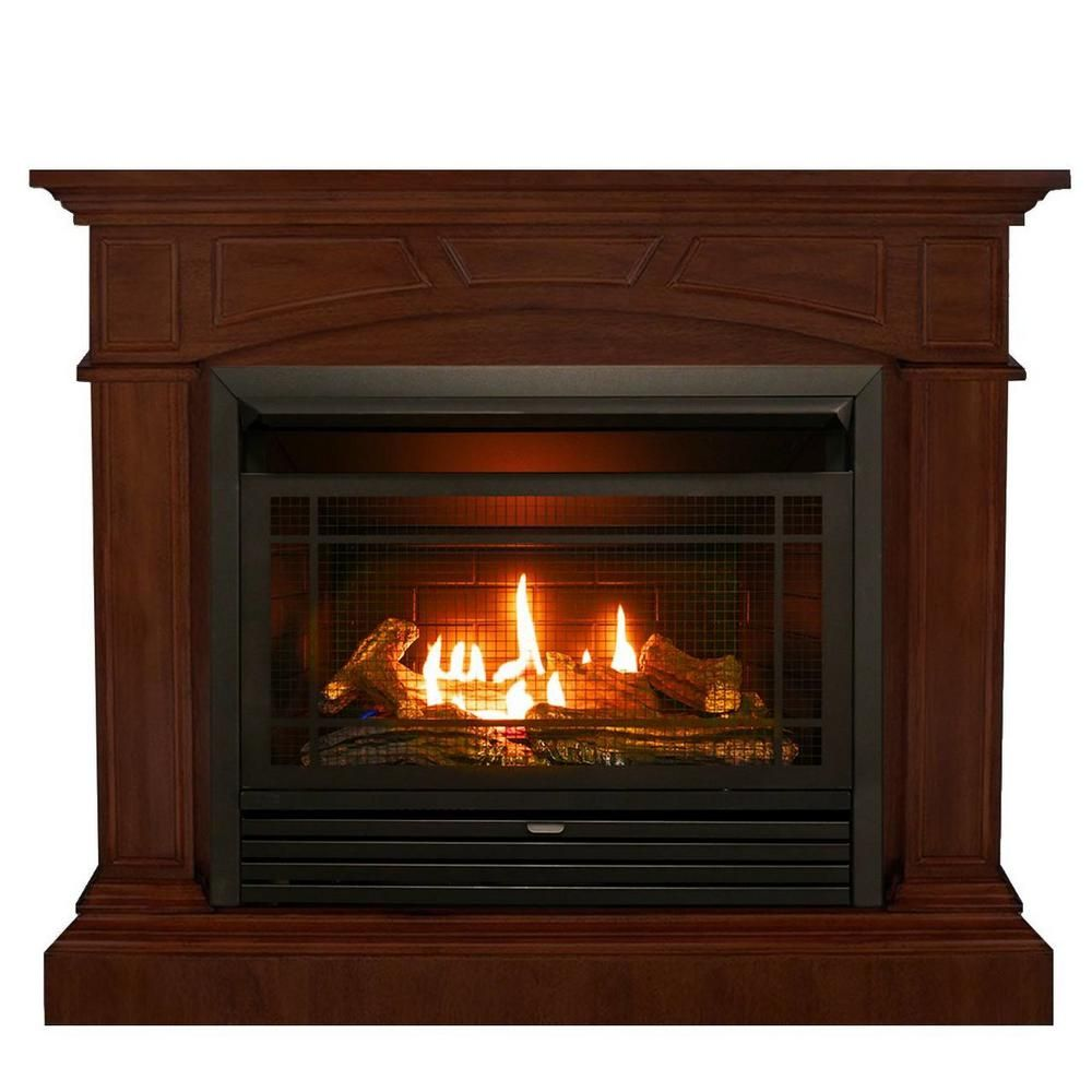 Duluth Forge 44 In Ventless Dual Fuel Gas Fireplace In Heritage