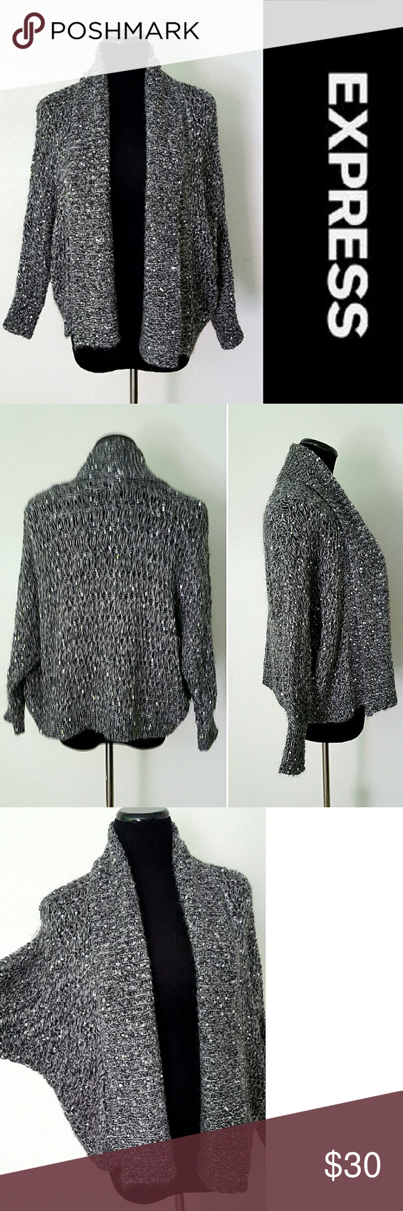 ⬇FINAL PRICE⬇Cable Knit Sequin Cardigan | Sequin cardigan, Cable ...