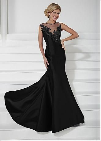 Sheer Tulle Neckline Formal Dresses
