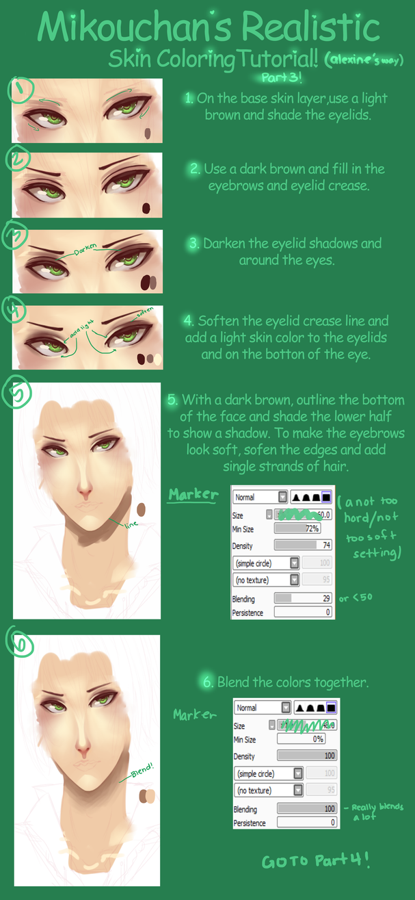 SAI SemiRealistic Skin Coloring Tutorial Part 3 by Mikouchan