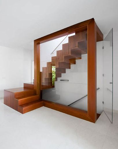 attic buildout ideas - Wooden Staircase stairs Pinterest