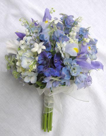 Bouquet Of Cool Colors Purple Wedding Bouquets Blue Wedding Bouquet Blue Wedding Flowers