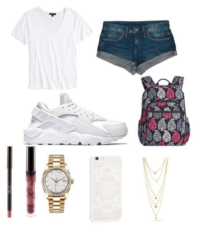 """Untitled #270"" by prtty-gurl ❤ liked on Polyvore featuring BLANKNYC, NIKE, Topshop, Vera Bradley, JFR and Rolex"