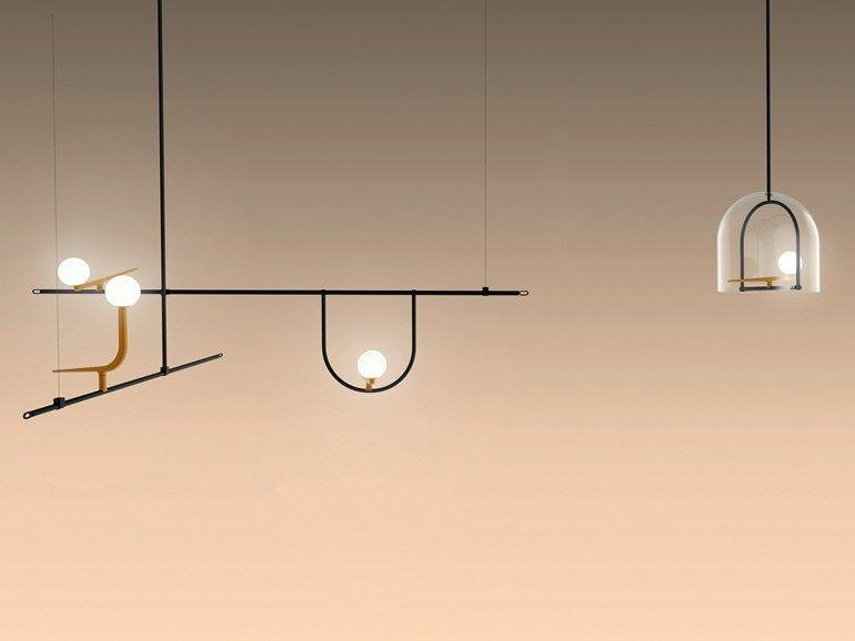 Lampade Da Soffitto A Led Artemide : Lampada a sospensione led luce diretta in ottone yanzi
