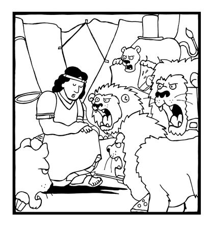 Daniel and the Lions Den coloring page Primary Pinterest