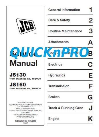 click on the picture to download jcb js 130 160 js130 js160 tracked rh pinterest com 130 Excavator JCB JS130 Specifications