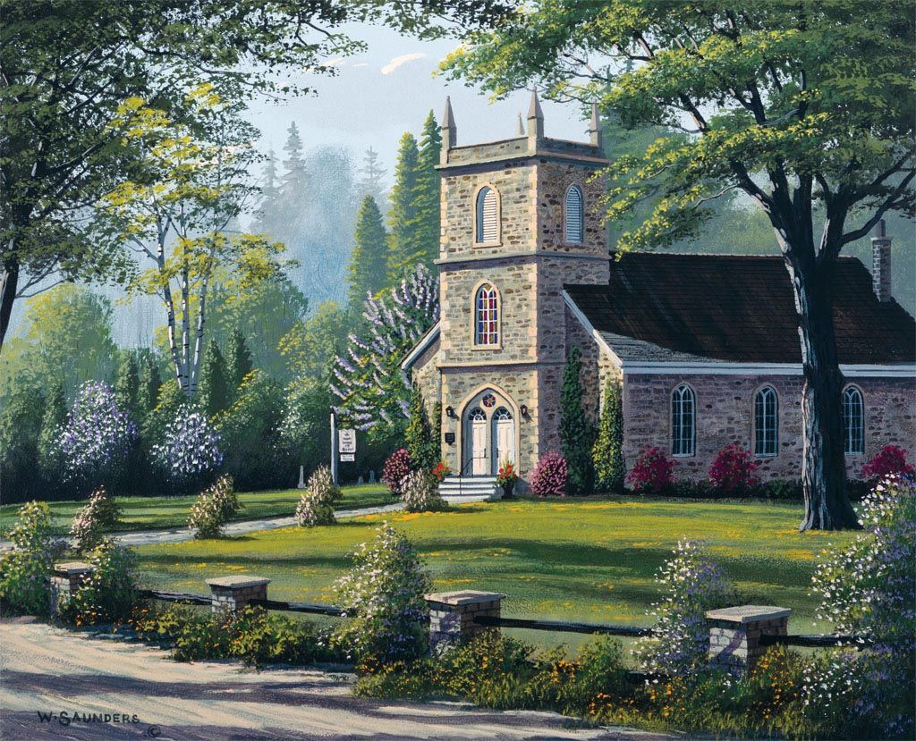 Lang May 2014 Wallpaper Country Churches Painting