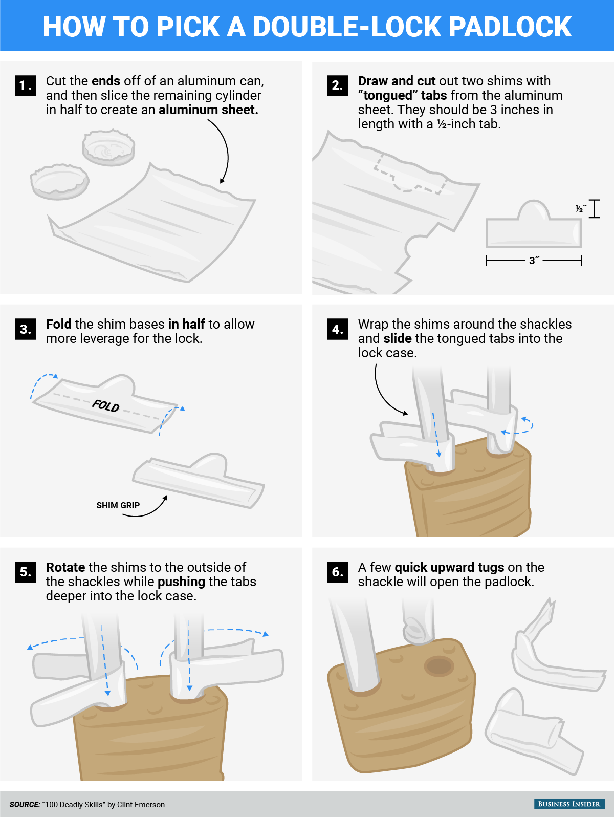 hight resolution of how to pick locks and break padlocks