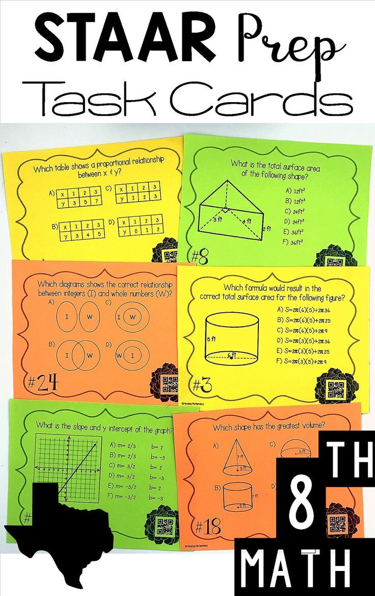 8th Grade Math STAAR Review \u0026 Prep - Task Cards Set #1 - PDF \u0026 Digital   Staar  math [ 1168 x 736 Pixel ]
