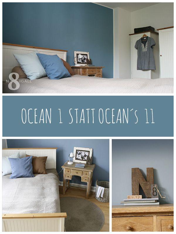 Eine Blaue Wand Im Schlafzimmer Und Wie Ich Ordnungshelfer Verstecken Kann.
