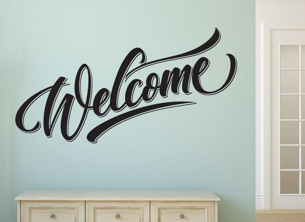 welcome home wall art sticker with images home wall on wall stickers for hall id=14995