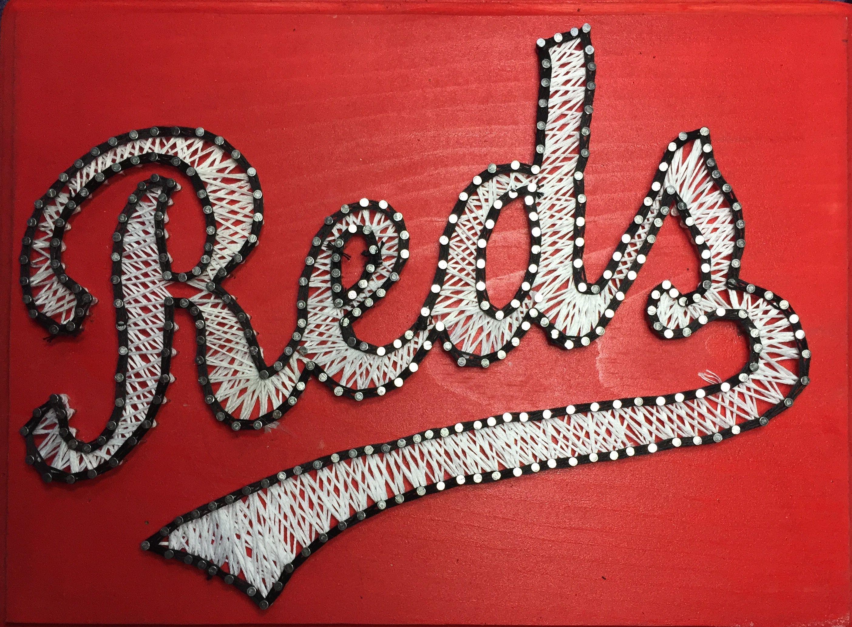 Custom String Art Cincinnati Reds Script Custom