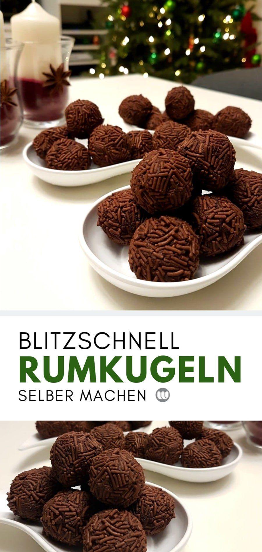 Rezept: Rumkugeln aus geriebener Schokolade selber machen – Pralinen