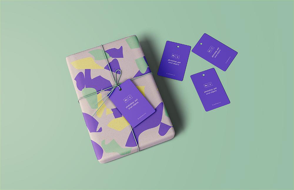 Wrapped Gift Mockup Free Free Mockup Free Packaging Mockup Branding Mockups Free Free Mockup