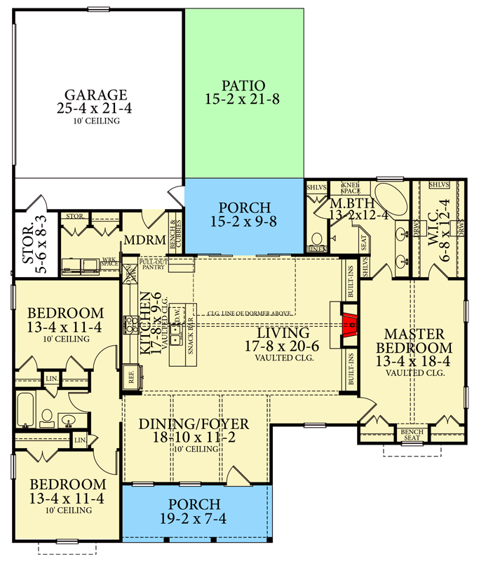 Plan 62155v Exquisite 3 Bed House Plan With Split Bedrooms House Plans Ranch Style House Plans New House Plans