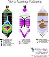 Earring bead graphs.