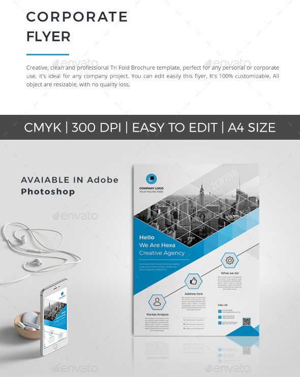 Free Photo Realistic Corporate Business Flyer Templates Business